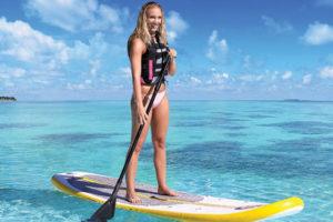 paddle-board